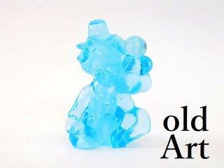 1980年代アメリカBoyd Glassオールドボイドピエロアートガラス置物オブジェ/ライトブルー【M-12832】