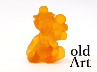 1980年代アメリカBoyd Glassオールドボイドピエロアートガラス置物オブジェ/アンバー【M-12840】