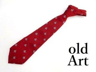 USA製フリーメイソンメソニックオフィシャル C.J.Andrews社製総柄刺繍ネクタイ【M-12845】