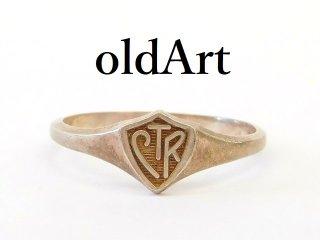 ビンテージキリストLDS教会Choose the Rightシルバー製シールドリング指輪16.3号【M-12856】