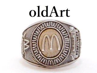 非売品1970年代ビンテージUSA製BALFOUR社マクドナルドMcDonald'sメンズ重厚リング指輪23.5号【M-12943】