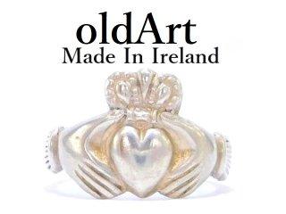 アイルランド製伝統的な指輪ヴィンテージJHW社製クラダリングシルバー製メンズ19.5号【M-12930】
