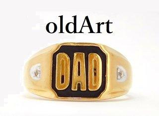 USA製ヴィンテージDAD10金無垢メンズリング指輪22.8号10Kゴールド【M-13006】
