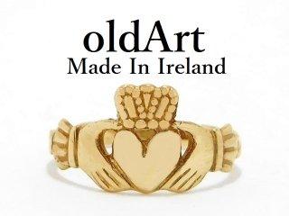 アイルランド製O.C.Lt社伝統的な指輪Claddagh Ringクラダリング10金無垢9号ホールマーク10CTゴールド刻印【M-13062】