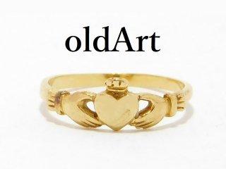 アイルランド伝統的な指輪Claddagh Ringクラダリング10金無垢10Kゴールド7号【M-13065】