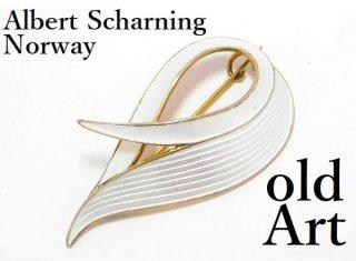 北欧ノルウェー製1950年代Albert Scharning七宝焼エナメル装飾シルバー銀製ブローチ【M-13023】