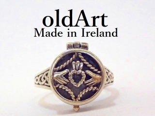 アイルランド製伝統的クラダリングロケット型スターリングシルバー製指輪9号【M-13173】