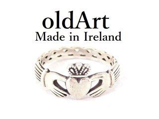 アイルランド製SOLVAR社伝統的な指輪クラダリングケルト模様結び目スターリングシルバー製14号ホールマーク刻印【M-13217】
