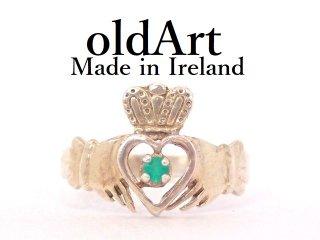 アイルランド製1986年ヴィンテージクラダリング伝統的な指輪シルバー製レディース9.5号【M-13219】