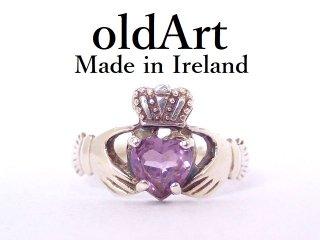 アイルランド製クラダリング伝統的な指輪シルバー製レディース15.5号【M-13220】