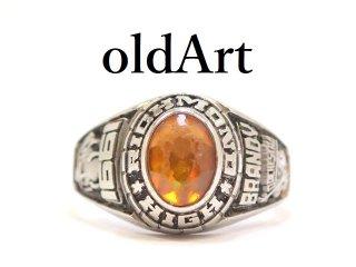 USA製1991年代ヴィンテージデビル悪魔サタンRichmond HSカレッジリング指輪17.8号合金製【M-13230】