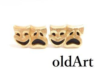 USA製ヴィンテージ1950-60年代SWANK社ツーフェイスTWOFACE泣き笑いゴールドカフスロカビリー【M-13320】