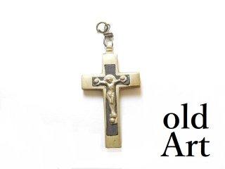 アンティークロザリオイエスキリスト十字架クロスメダイペンダントトップヘッド聖品【M-13403】