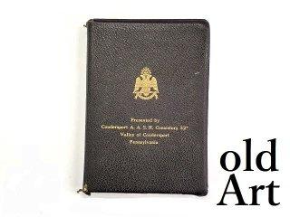 ヴィンテージ1960年代USAフリーメイソンオフィシャル32階級HOLYBIBLE聖書バイブル古書本【M-13430】