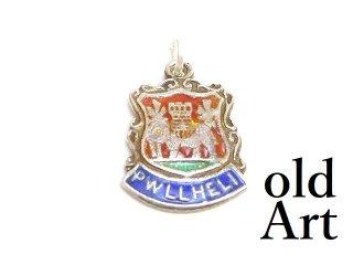 英国製イギリス1962年製造ヴィンテージウェールズ紋章シルバー製ペンダントチャーム/ホールマーク刻印【M-13444】