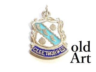 英国製イギリス1965年製造ヴィンテージCLEETHIRPES紋章シルバー製ペンダントチャーム/ホールマーク刻印【M-13445】