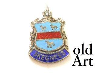 英国製イギリス1958年製造ヴィンテージSKEGNESS紋章シルバー製ペンダントチャーム/ホールマーク刻印【M-13446】