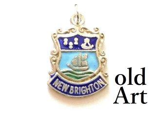 英国製イギリス1964年製造ヴィンテージニュージーランド紋章シルバー製ペンダントチャーム/ホールマーク刻印【M-13450】