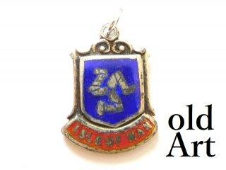 英国イギリス製ヴィンテージISLE OF MAN紋章シルバー製ペンダントチャーム【M-13465】
