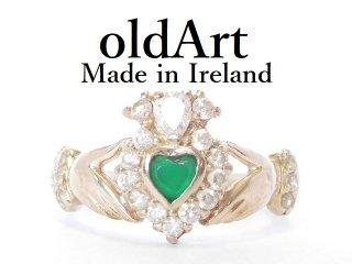 アイルランド製TJH工房伝統的な指輪クラダリング豪華スターリングシルバー製13号ホールマーク刻印【M-13643】