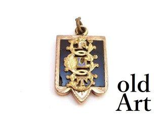 アンティーク1890-1910年代オッドフェローズFLTオニキス懐中時計フォブペンダントトップ【M-13740】