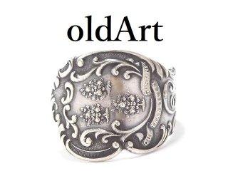 USA製アンティーク1900年代初頭シルバー銀製スプーンリング指輪21号【M-13916】