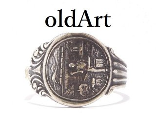 USA製アンティーク1900年代初頭ネブラスカ州シルバー銀製スプーンリング指輪22.5号【M-13918】