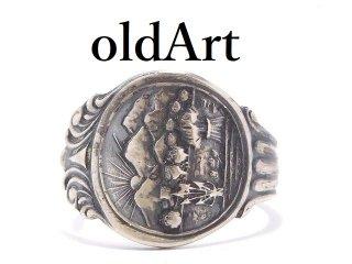 USA製アンティーク1900年代初頭オハイオ州シルバー銀製スプーンリング指輪15号【M-13919】