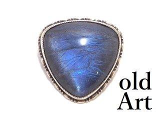 英国製アンティーク1920年代アールデコモルフォ蝶バタフライウィング純銀ピンブローチ幻想的【M-13905】