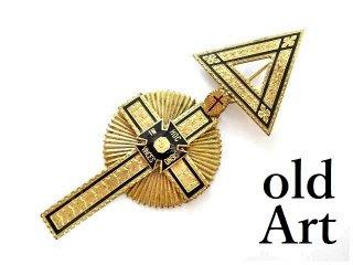 USA製1969年代ヴィンテージフリーメイソンテンプル騎士団十字架クロス勲章バッジ 【M-14089】