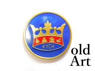 ヴィンテージデッドストックフリーメイソンKYCHテンプル騎士団オフィシャル王冠プラスチック製カーエンブレムステッカー【M-14203】