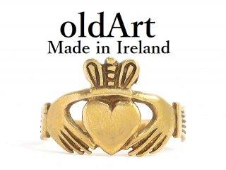 アイルランド製伝統的な指輪Claddagh Ringクラダリング9金無垢11号ホールマーク9CTゴールド刻印【M-14213】