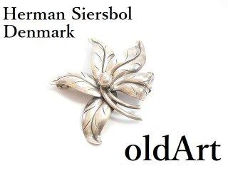 ヴィンテージ1960年代北欧デンマーク製Herman Siersbol/ハーマンシーボルSTERLINGシルバー銀製ピンブローチ【M-14261】