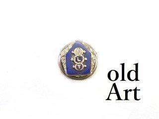 USA製ヴィンテージ1940年代Odd FellowsオッドフェローズFLT10金無垢10Kホワイトゴールドピンバッジ/ピンズラペルピン【M-14250】