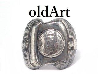 入手困難USA製1940-50年代ヴィンテージ当時物US.ARMY白頭鷲STERLINGシルバー製19号メンズミリタリーリング指輪【M-14432】