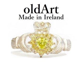 デッドストックアイルランド製SOLVAR社伝統的な指輪クラダリングスターリングシルバー製【19.5号】【M-14449】