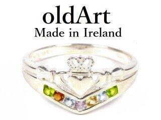デッドストックアイルランド製SOLVAR社伝統的な指輪クラダリングスターリングシルバー製【21.5号】【M-14450】