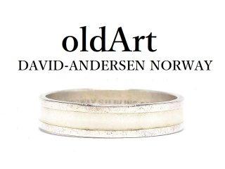 北欧ノルウェー製1940-50年代David Andersen七宝焼エナメル装飾シルバー銀製リング指輪【13号】【M-14480】