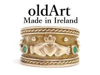 アイルランド製ヴィンテージ1970年代伝統的Claddagh Ringクラダリングスターリングシルバー製指輪【11.5号】【M-14497】