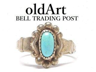 USA製ヴィンテージ1950年代BELL TRADING POSTベルトレーディング社製ナバホインディアンターコイズシルバーリング指輪【8号】【M-14482】