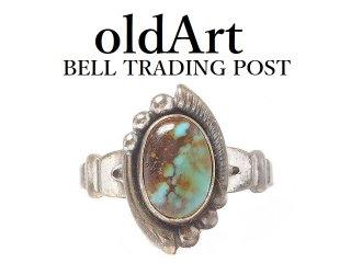 USA製ヴィンテージ1950年代BELL TRADING POSTベルトレーディング社製ナバホインディアンターコイズシルバーリング指輪【9号】【M-14484】