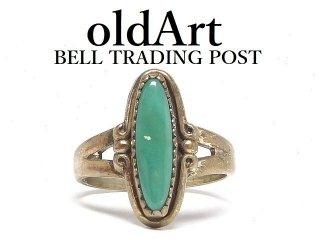 USA製ヴィンテージ1950年代BELL TRADING POSTベルトレーディング社製ナバホインディアンターコイズシルバーリング指輪【10号】【M-14485】