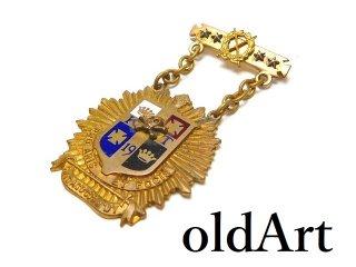 USA製1919年当時物エドワーディアンアンティークフリーメイソンテンプル騎士団クロスボーンスカル勲章十字架バッジ徽章【M-14542】