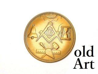 USA製ヴィンテージ1969年フリーメイソンロッジF&AM会員限定コインメダル【M-14545】