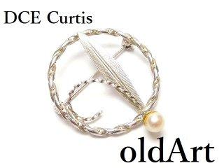 USA1970年代DCE Curtisヴィンテージ銀細工シルバー製コスチュームジュエリーピンブローチ【M-14591】