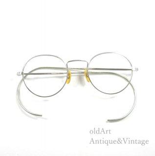 USA製1930sAmericanOpticalアメリカンオプティカルFUL-VUEラウンドフレームメガネ丸眼鏡SILVER【40□20】【N-20009】