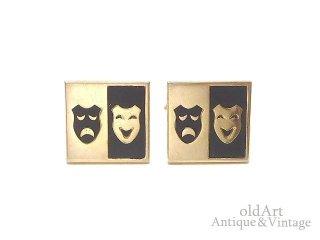 USA製SWANK社ヴィンテージ1950-60年代ツーフェイスTWOFACE泣き笑いゴールドカフスロカビリー【M-14832】