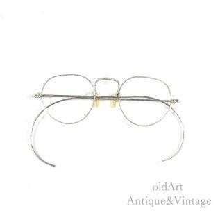アメリカ製ヴィンテージ30-40sメガネ眼鏡40ー20 Silver【N-200094】