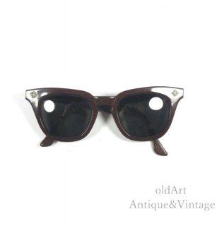 Bausch&LombボシュロムSAFETYヴィンテージ50'sメガネ眼鏡5 1/4 42ー22【N-20100】