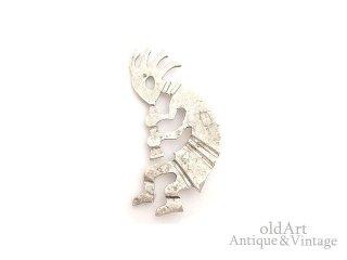 メキシコ製MEXICOヴィンテージココペリホピ族スターリングシルバー銀製メキシカンジュエリーBIGピンブローチ【M-14822】